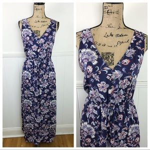 Lucky Brand Blue Floral Maxi Dress Size Small